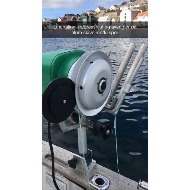 Avangler/Taustyrer til alum.skive m/2 kilspor