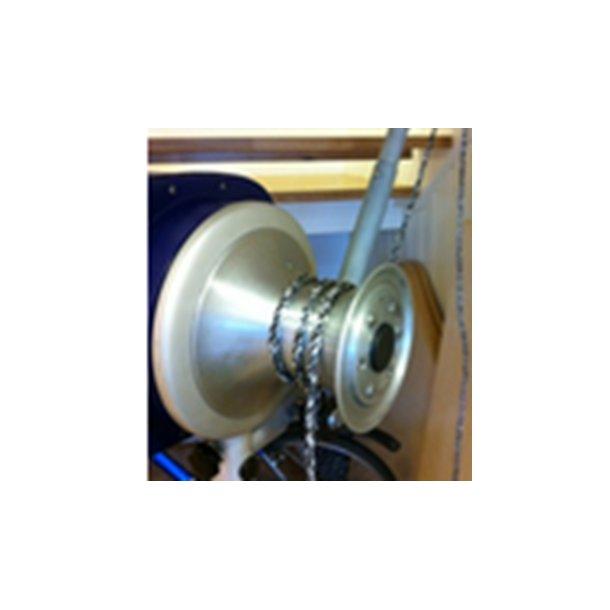 Hobbyfisher P220. Bensindrevet kraftblokk, m/Taunokke (Capstan), transportabel vinsj