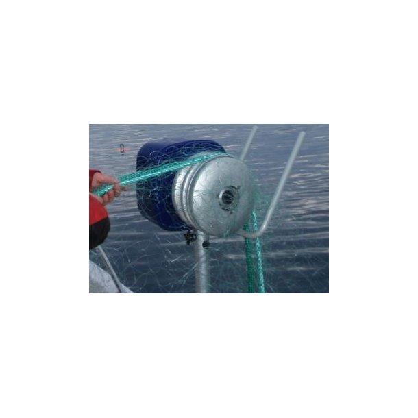 Hobbyfisher P220. Bensindrevet kraftblokk m/LITEN type alum.skive m/2 kilspor for tau/liner...