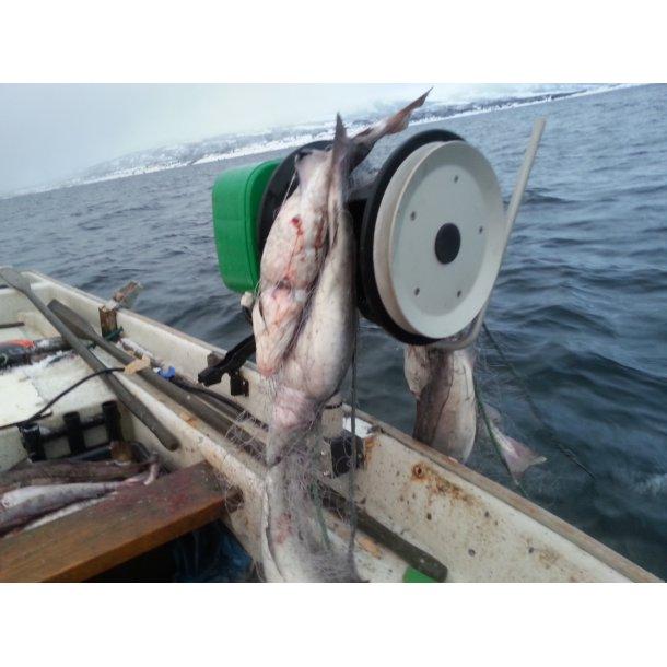 Hobbyfisher E150, 12V kraftblokk m/Garntrommel m/lineskive for tau/liner på enden.